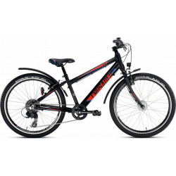 "Vélo PUKY Crusader 24-8 ALU Light Active 24"" Noir"