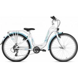 """Vélo PUKY Skyride 24-8 Alu Light 24"""" Blanc"""