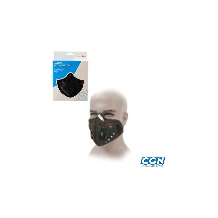 Masque de confort en neoprene avec systeme anti pollution (avec capsule charbon actif)