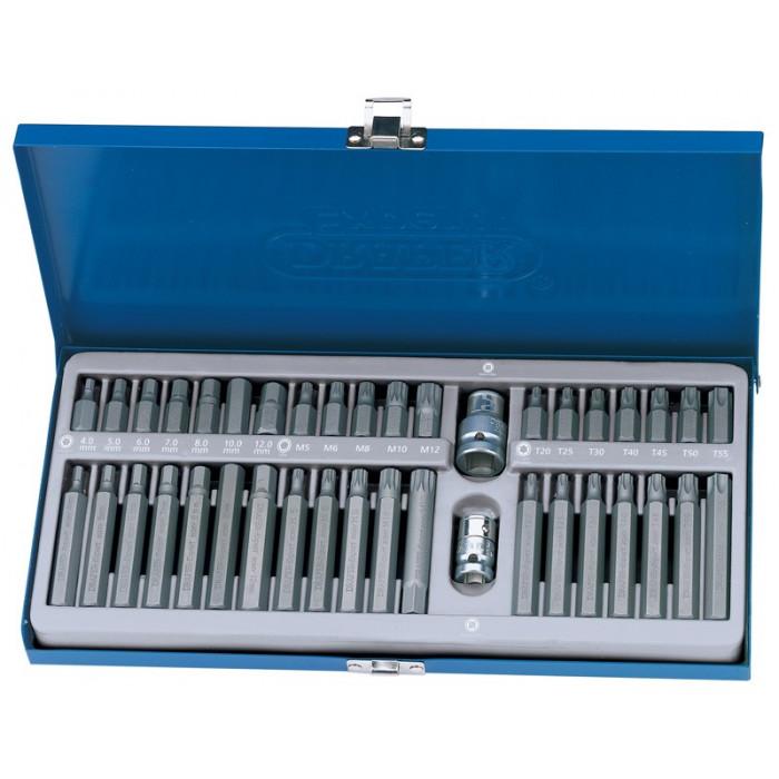 Coffret métallique de 40 douilles DRAPER TX-STAR®, Spline (XZN), CHC