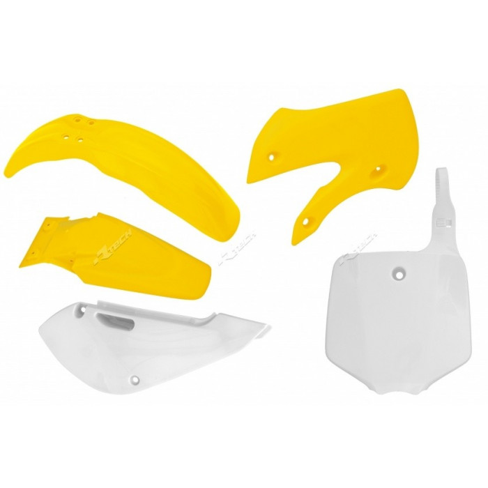 Kit plastique RACETECH couleur origine jaune/blanc Suzuki RM65
