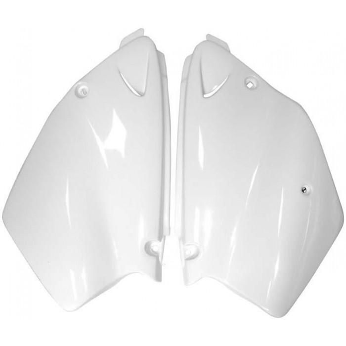 Plaques latérales RACETECH blanc Yamaha