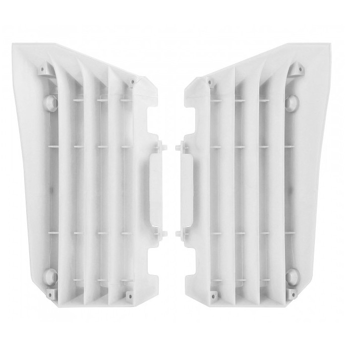 Cache radiateur POLISPORT blanc Yamaha YZ250F/YZ450F