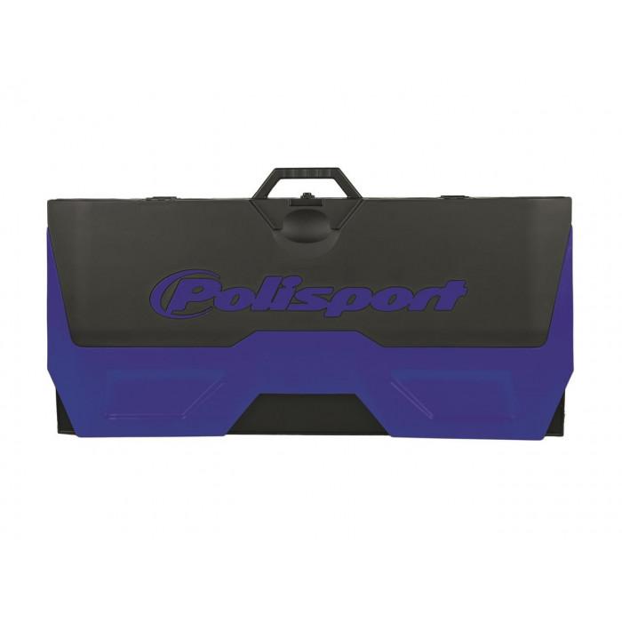Tapis récupérateur pliable POLISPORT Bike Mat bicolore bleu/noir