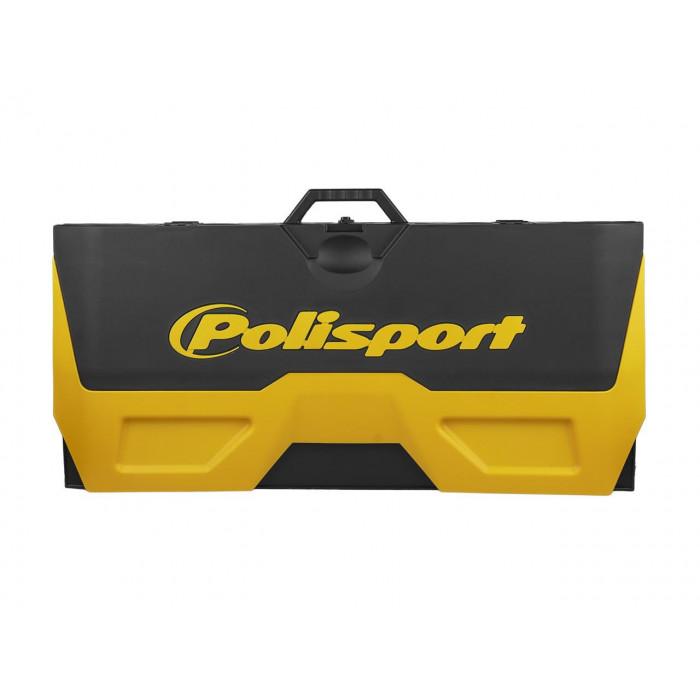 Tapis récupérateur pliable POLISPORT Bike Mat bicolore jaune/noir