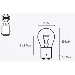 Ampoule V PARTS S25...