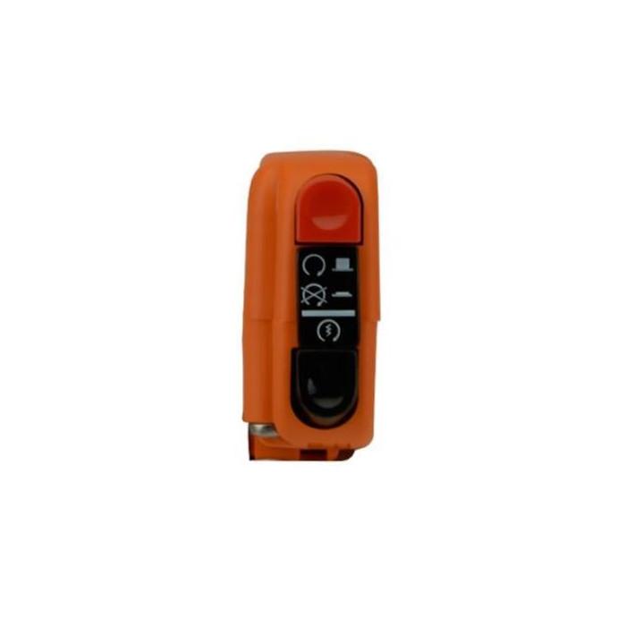 Commodo électrique droit Tommaselli orange avec interrupteur