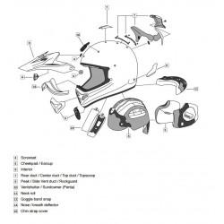 Plaque visière ARAI TX3/4...