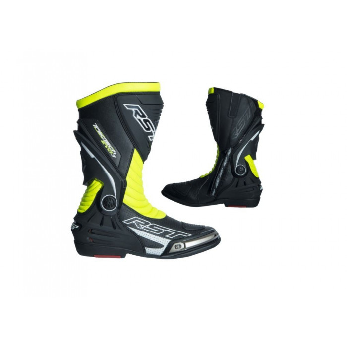 Bottes RST TracTech Evo 3 CE cuir jaune fluo 46 homme