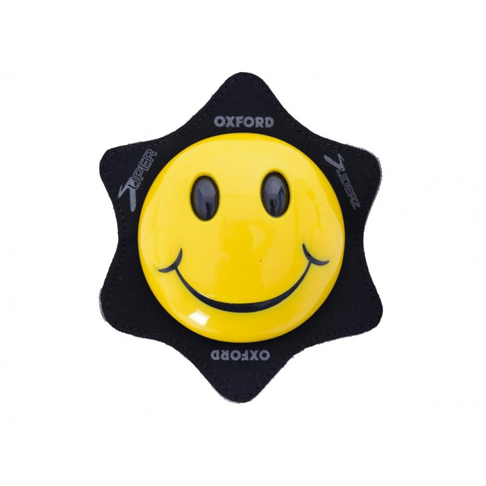 Sliders de genoux OXFORD Smiley jaune