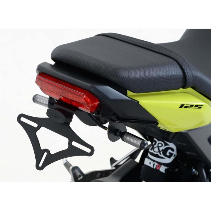 Support de plaque R&G RACING noir compatible micro clignotants Honda MSX125