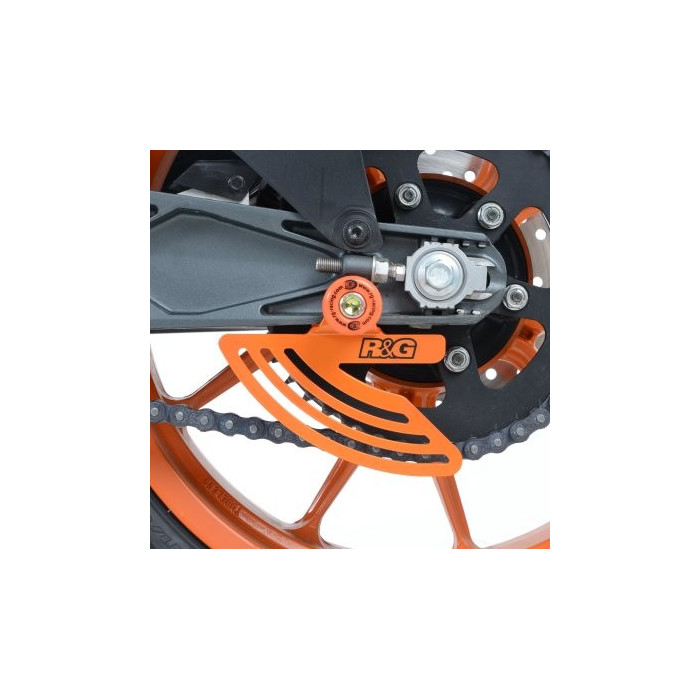 Protège couronne R&G RACING aluminium orange KTM RC125/200/390
