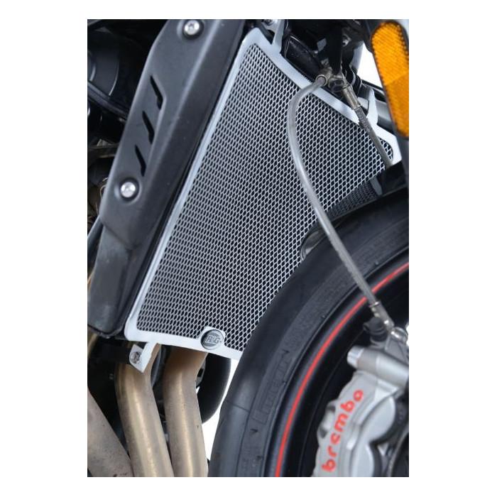 Protection de radiateur R&G RACING noir Triumph Street Triple 765