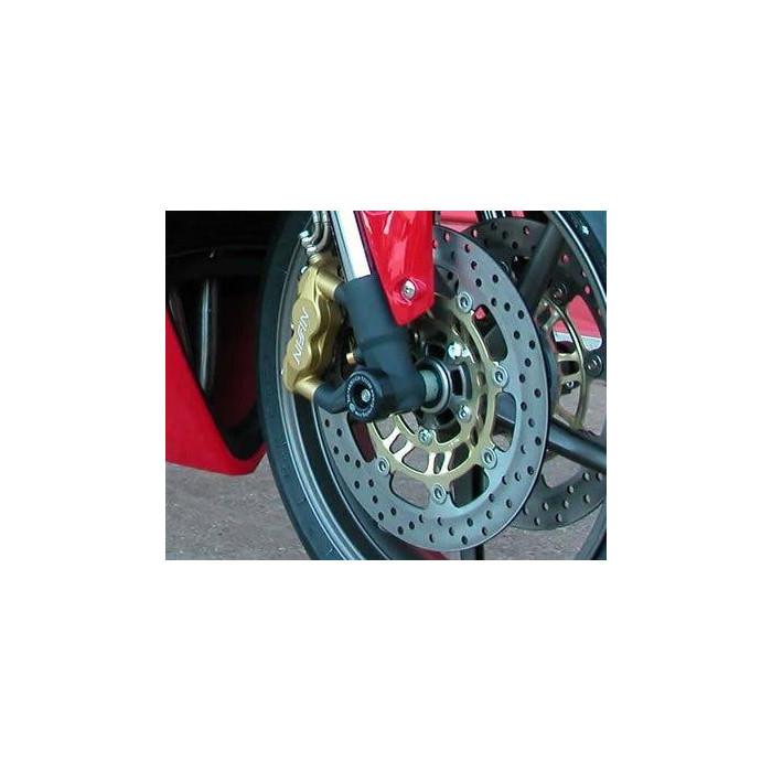 Protection de fourche R&G RACING noir Triumph Daytona/Street Triple