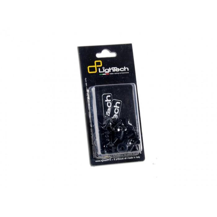 Kit vis de carénage LIGHTECH noir alu (58 pièces) Kawasaki Zx10R