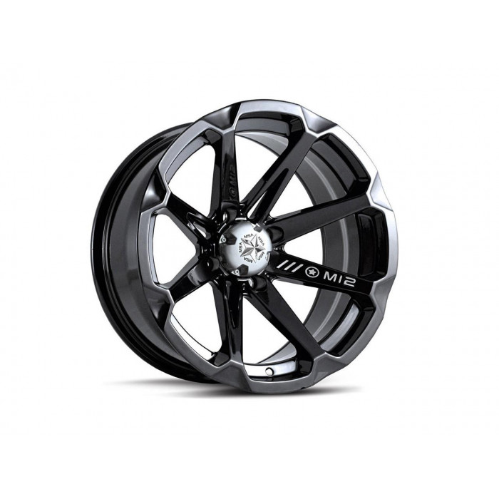 Jante utilitaire MSA Offroad Wheels M12 Diesel noir quad 14x7 4x110 4+3