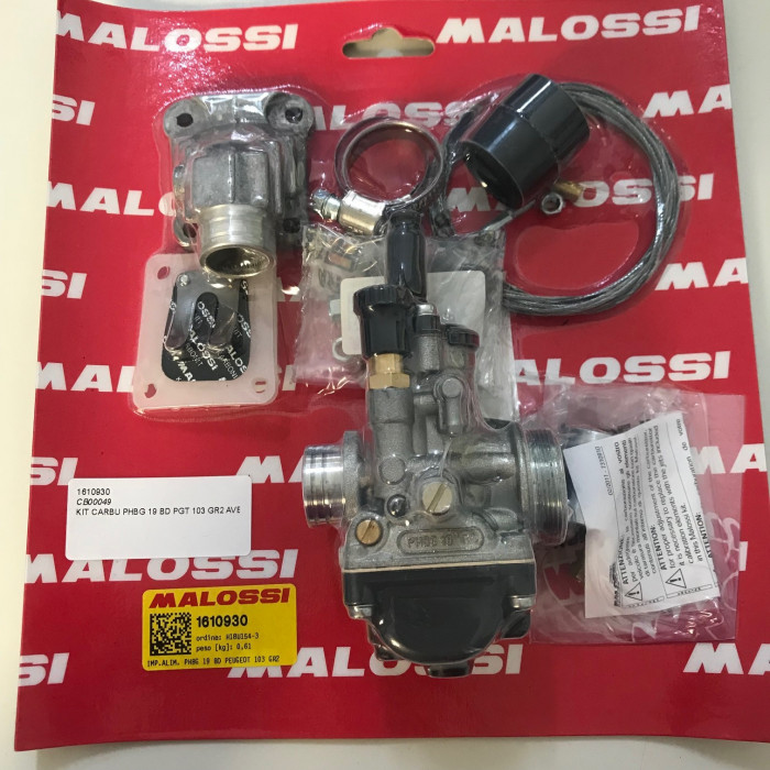 Carburateur MALOSSI PHBG 19 PEUGEOT 103