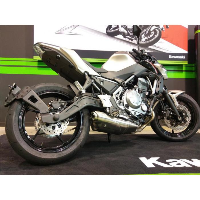 """Support de plaque ACCESS DESIGN """"ras de roue"""" noir Kawasaki Z650"""
