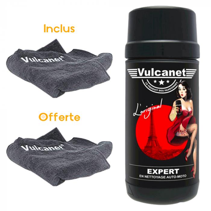 VULCANET 80 lingettes nettoyantes 2 microfibres