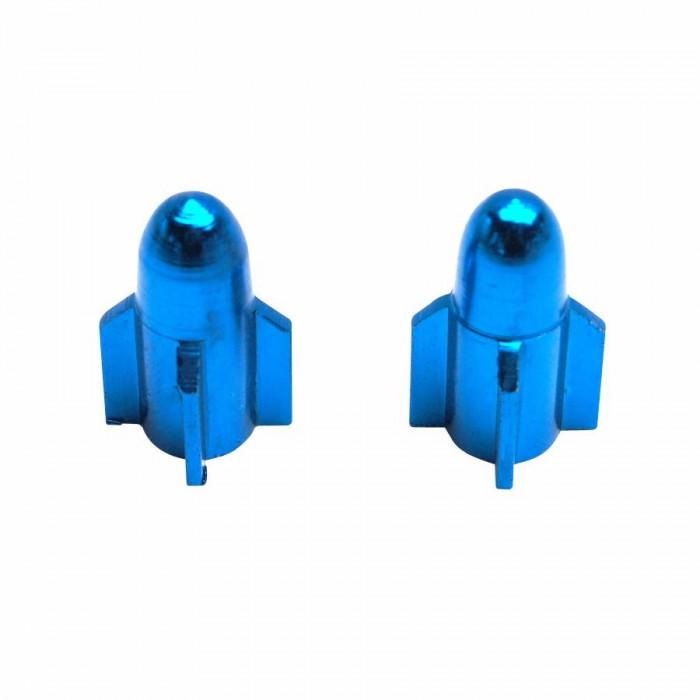 Bouchon de valve replay rocket alu bleu (paire) vs