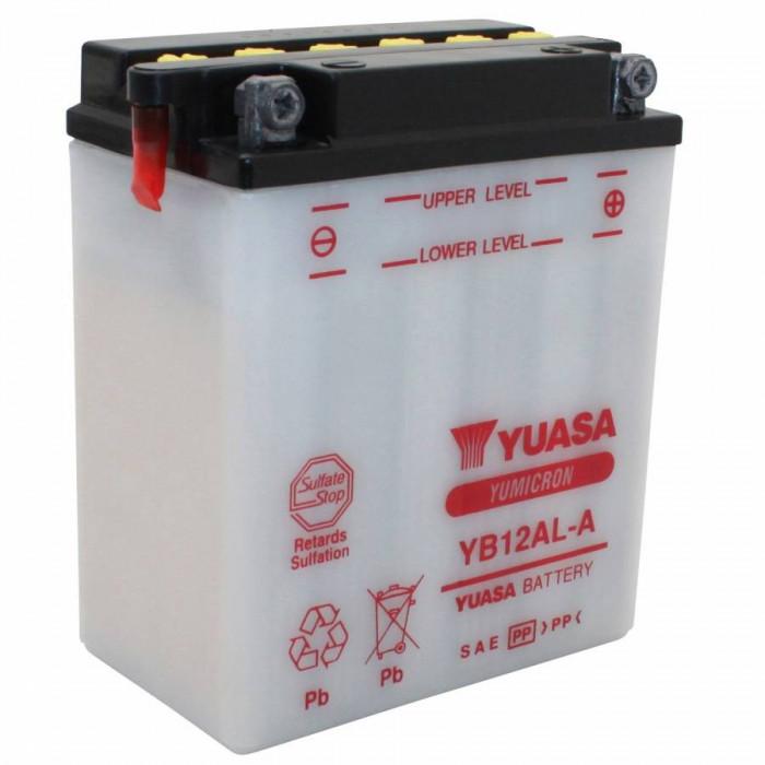 Batterie 12v 12ah yb12al-a yuasa yumicron avec entretien (lg134xl80xh160)