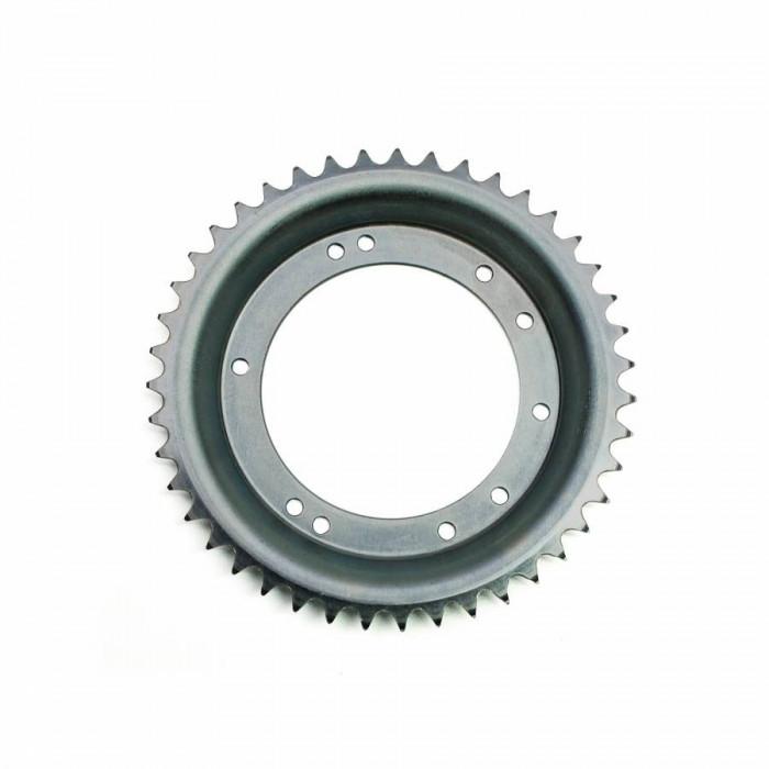 Couronne cyclo adaptable peugeot 103 roue alu grimeca 43 dts (alesage 98mm) 10 trous -selection p2r-