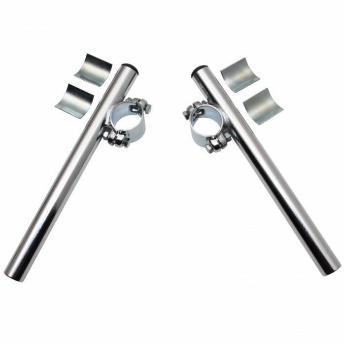 Guidon cyclo bracelet diam 26-28mm acier chrome (paire) -selection p2r-