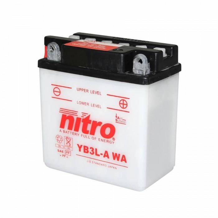 Batterie 12v 3 ah yb3l-a nitro avec entretien (lg98xl56xh111)