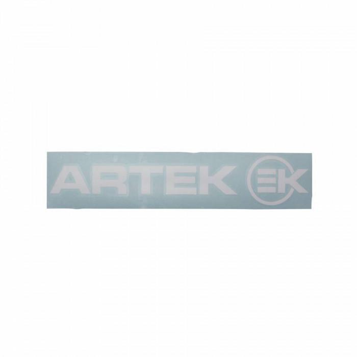 Autocollant artek blanc (planche 280mm x 60mm avec 1 artek et 1 ek)