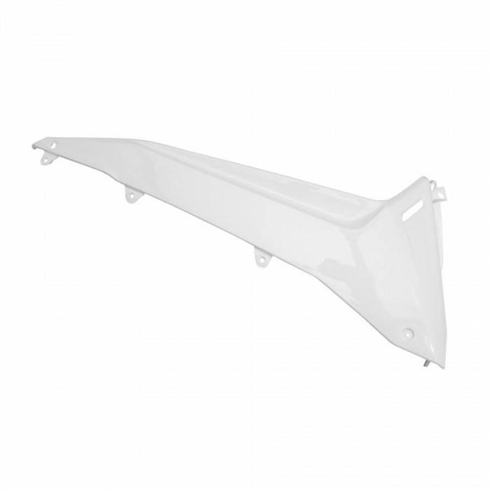 Carenage-bas de caisse maxiscooter adaptable yamaha 530 tmax 2012+2014 blanc brillant gauche -p2r-