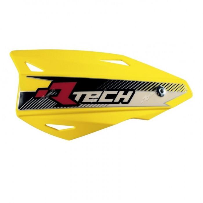 Protège-mains RACETECH Vertigo réglable jaune