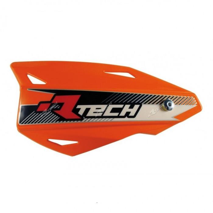 Protège-mains RACETECH Vertigo réglable orange