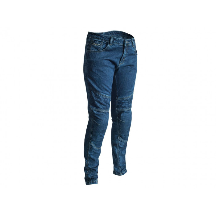 Pantalon RST Aramid CE textile straight leg bleu foncé taille L femme