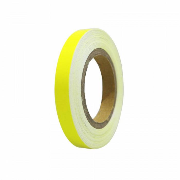Liseret-autocollant-sticker jante replay jaune fluo 7mm 6m avec applicateur