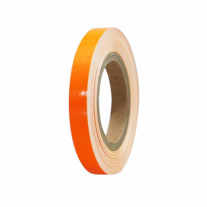 Liseret-autocollant-sticker jante replay orange fluo 7mm 6m avec applicateur