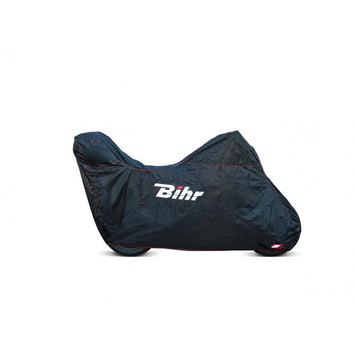 Housse de protection extérieure BIHR compatible bulle haute et Top Case noir taille S
