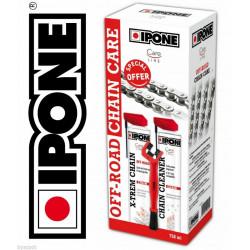 Pack brosse + dégraissant + graisse de chaîne IPONE Off Road motocross cross