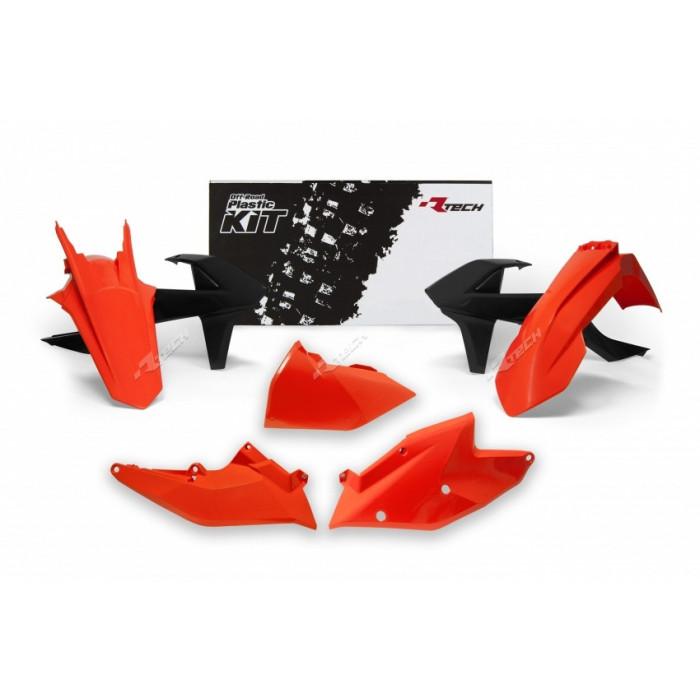 Kit plastique RACETECH couleur origine (2018) rouge/blanc/noir KTM