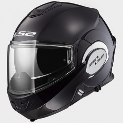 Casque LS2 FF399 Valiant Solid noir brillant S