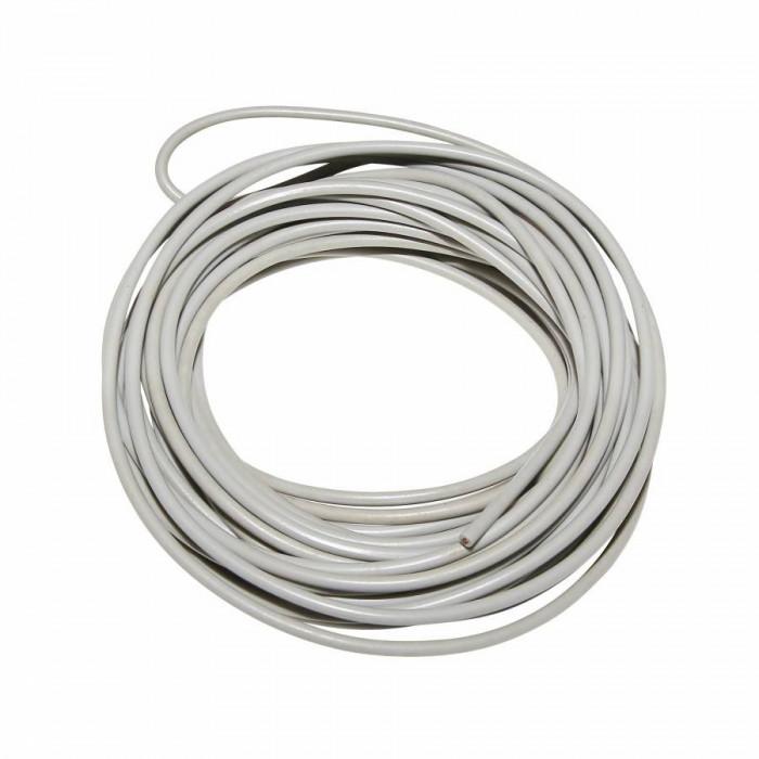 Fil electrique 0,5mm2 - diam ext 2,2mm gris (5m)