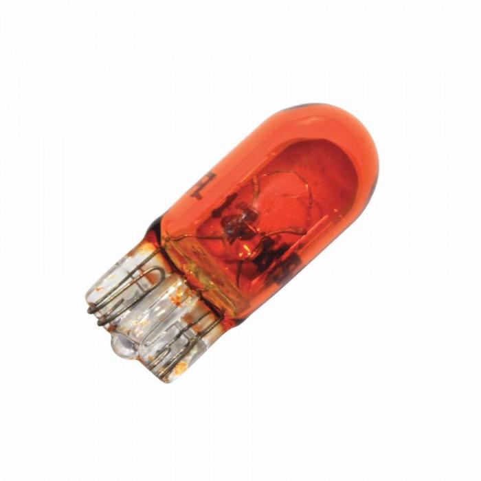 Ampoule-lampe 12v 5w norme w5w culot w2,1x9,5d wedge orange (compteur et clignotants) (boite de 10) -flosser-