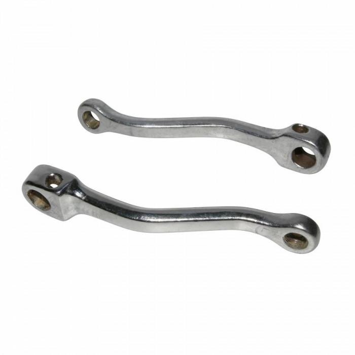 Manivelle cyclo adaptable gauche + droit (entraxe 150mm) acier chrome (paire)