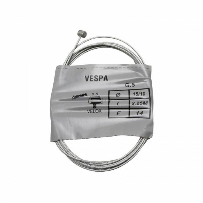Cable de vitesse a main velox pour vespa diam 15-10 l 2.25m (boule 5,5 x 6,5) (boite de 25)
