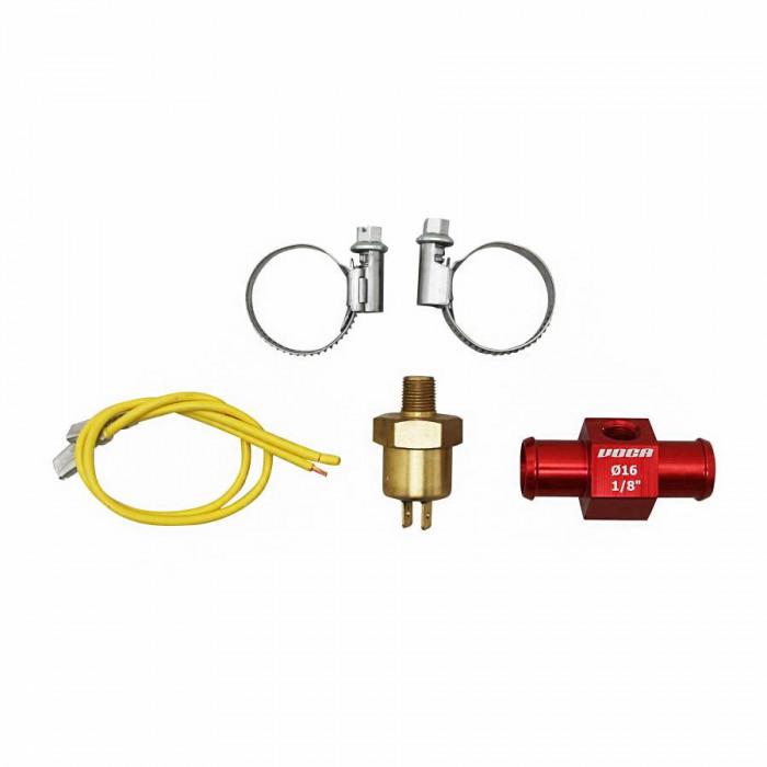 """Adaptateur de refroidissement voca t-link avec thermocontact 16mm 1-8"""" rouge"""