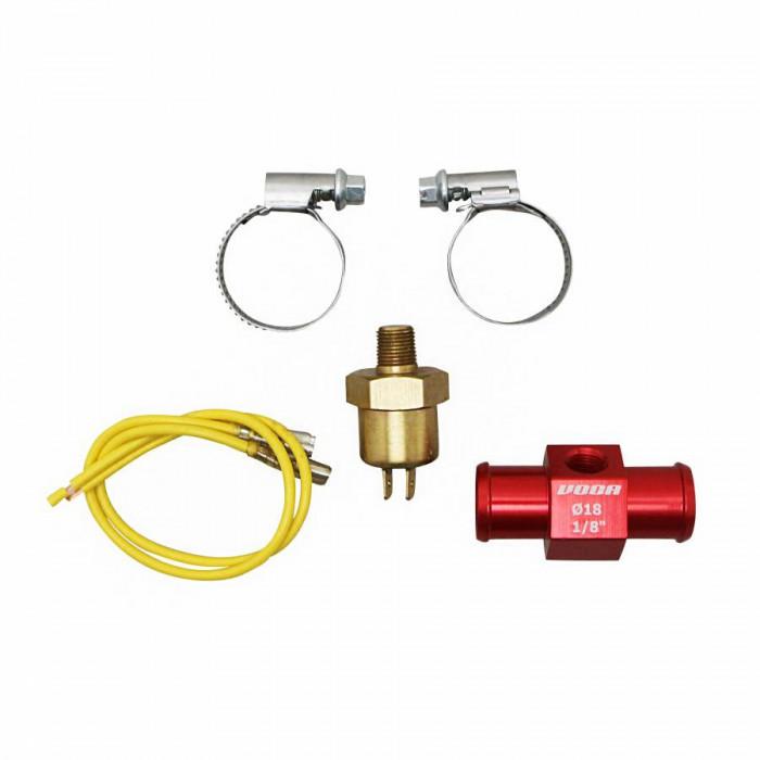 """Adaptateur de refroidissement voca t-link avec thermocontact 18mm 1-8"""" rouge"""