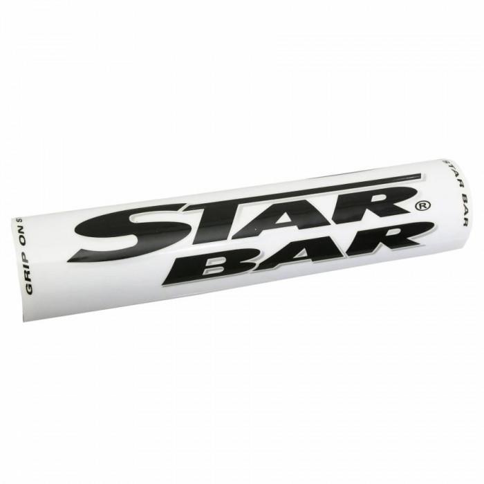 Mousse de guidon moto cross star bar mx-enduro blanc (diam 50mm - longueur 250mm)