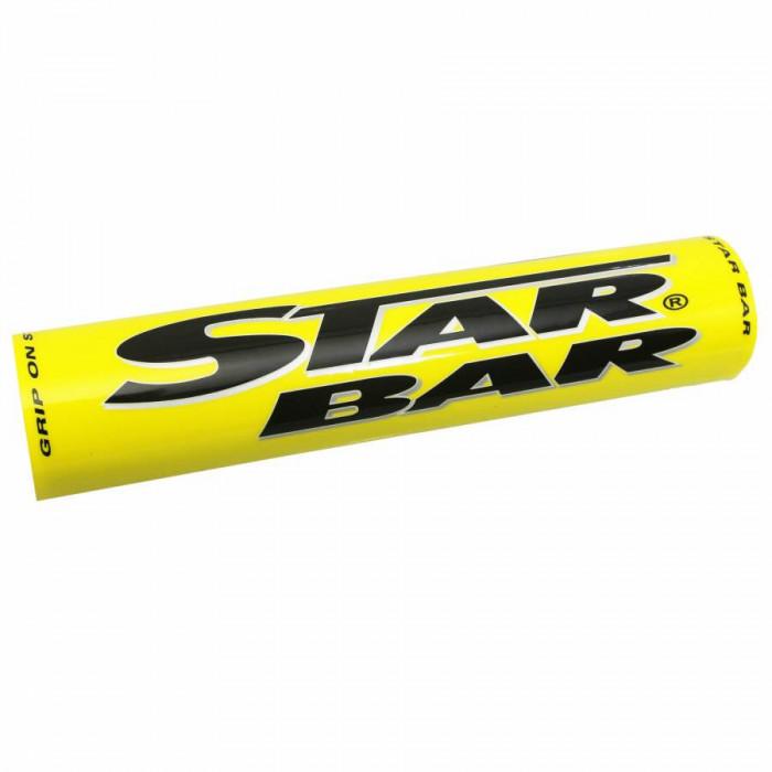Mousse de guidon moto cross star bar mx-enduro jaune (diam 50mm - longueur 250mm)
