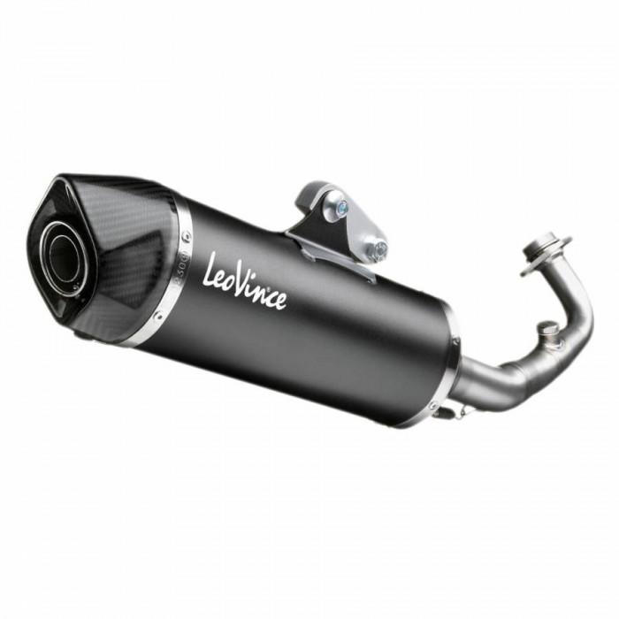 Pot maxiscooter leovince sbk nero pour yamaha 530 tmax 2017+ (coupelle carbone) (ref 14043 sans catalyse) (homologue ce)