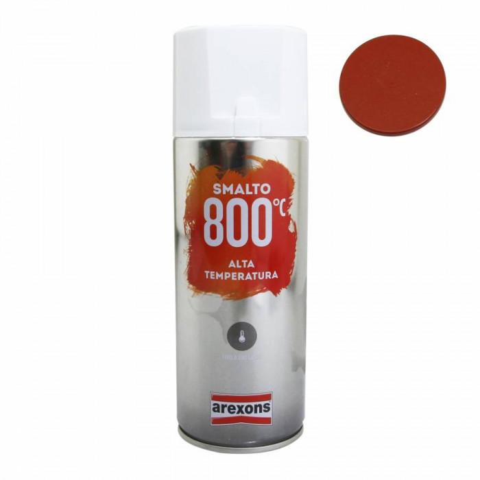 Bombe de peinture arexons pro haute temperature 800°c rouge spray 400 ml (3436)