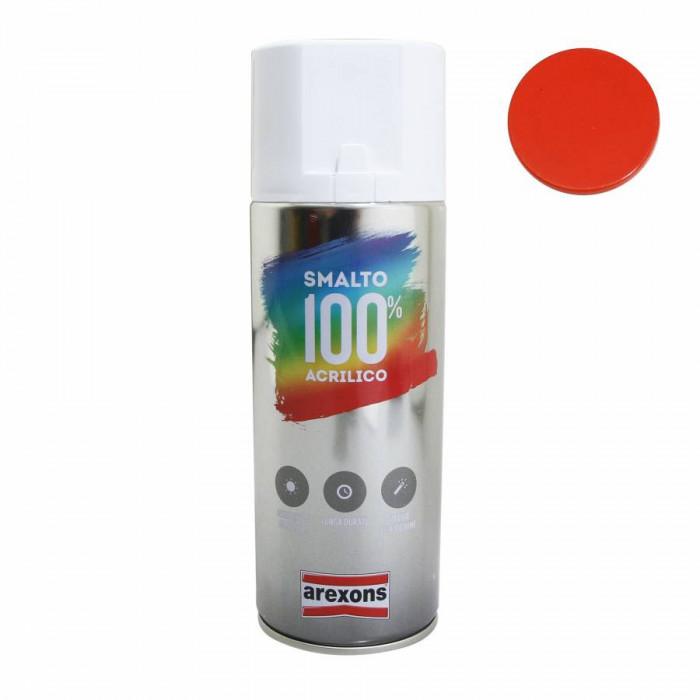 Bombe de peinture arexons acrylique 100 orange pur brillant spray 400 ml (3598)